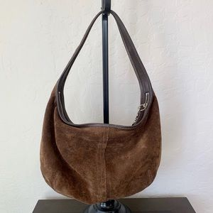 Coach Hobo Suede Brown Small Bag
